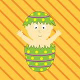 Easter Egg Baby Stock Images