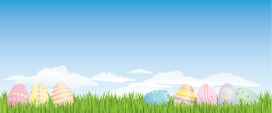 Easter egg background. Grouped and layered for easy editing.  Please check my portfolio for more easter illustrations Stock Images