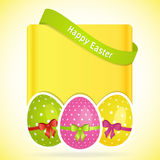 Easter egg background with banner Stock Image