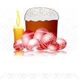 Easter egg background cake Royalty Free Stock Photography