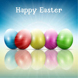Easter egg background Stock Photos