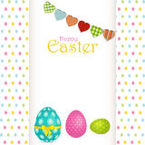 Easter egg background with panel and message Stock Image
