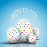 Easter egg background with spotted eggs Royalty Free Stock Images