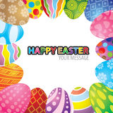 Easter egg background vector Stock Image