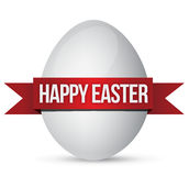 Easter egg and banner Stock Photography