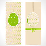 Easter egg banner background Royalty Free Stock Photo