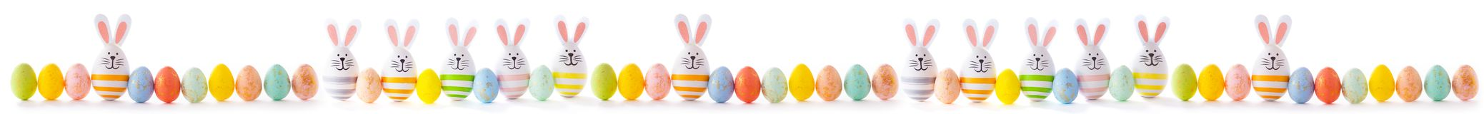 Easter egg banner royalty free stock photo
