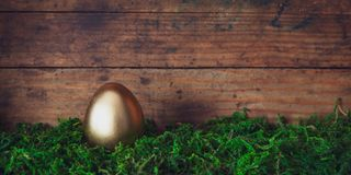 Easter egg banner royalty free stock photography