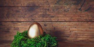 Easter egg banner royalty free stock photo