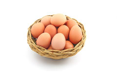Easter egg in a basket Stock Photography