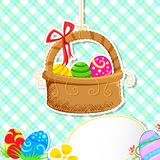Easter Egg Basket Royalty Free Stock Photography