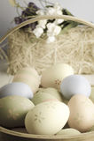 Easter Egg Basket Royalty Free Stock Photos