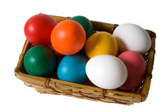 Easter Egg Basket Stock Photo