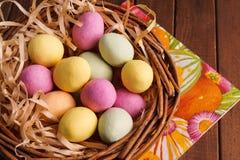 Easter Egg in Basket Stock Photos
