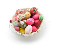 Easter egg in basket, Stock Photography