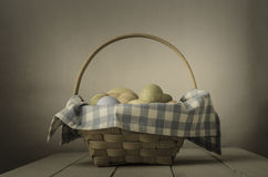 Easter Egg Basket - Vintage Style Royalty Free Stock Photos
