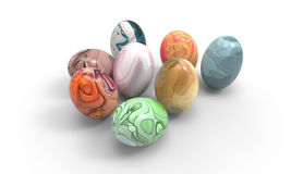 Easter egg of Beautiful art  and a white background. / Food Easter Art Design Stock Images