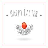 Easter egg bird nest Stock Photography