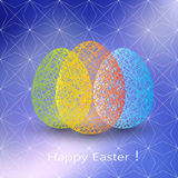Easter egg on blurred background with place for Stock Image