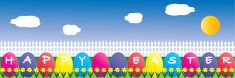 Easter Egg Border Royalty Free Stock Photography