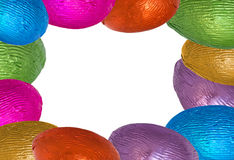Easter egg border Stock Images