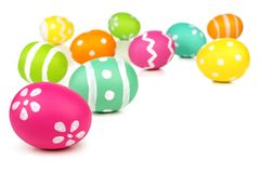 Easter egg border or background Royalty Free Stock Photos