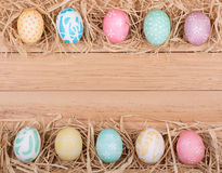 Easter Egg Border Stock Photography