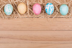 Easter Egg Border Royalty Free Stock Photo