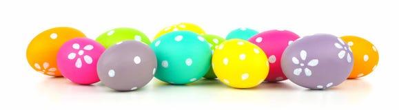 Easter egg border over white Stock Photos