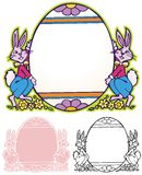 Easter egg border Stock Image