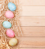 Easter Egg Border Royalty Free Stock Images