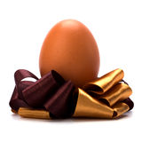 Easter egg with bow Stock Photos