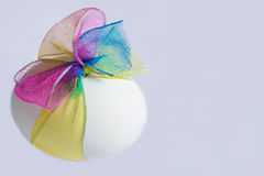 Easter egg with a bow Royalty Free Stock Photography