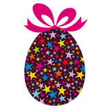 Easter Egg with Bow Stock Photography