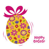 Easter Egg with Bow Royalty Free Stock Photos