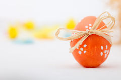 Easter egg with bow Royalty Free Stock Photo