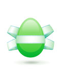 Easter egg with a bow Royalty Free Stock Image