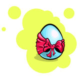 Easter Egg With Bow Royalty Free Stock Image