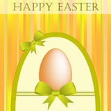 Easter egg with bows Royalty Free Stock Photos