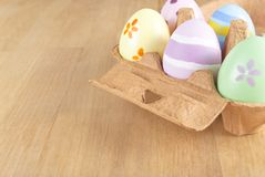 Easter Egg Box Angled Royalty Free Stock Image