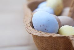 Easter Egg Box Macro Royalty Free Stock Image