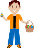 Easter Egg Boy Stock Photo