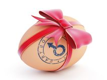 Easter egg boy gift with bow Stock Photo