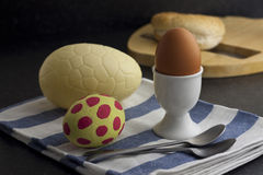 Easter Egg Breakfast Royalty Free Stock Image