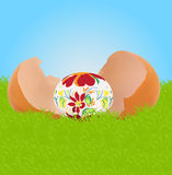 Easter egg in broken shell Stock Photography