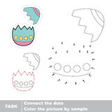 Easter egg with broken shell. Vector numbers game. Stock Image