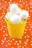 Easter egg bucket Royalty Free Stock Image
