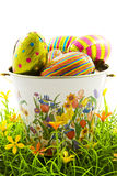 Easter egg bucket Stock Image
