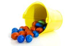 Easter egg bucket Stock Photos