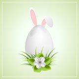 Easter egg and bunny ears Stock Photo